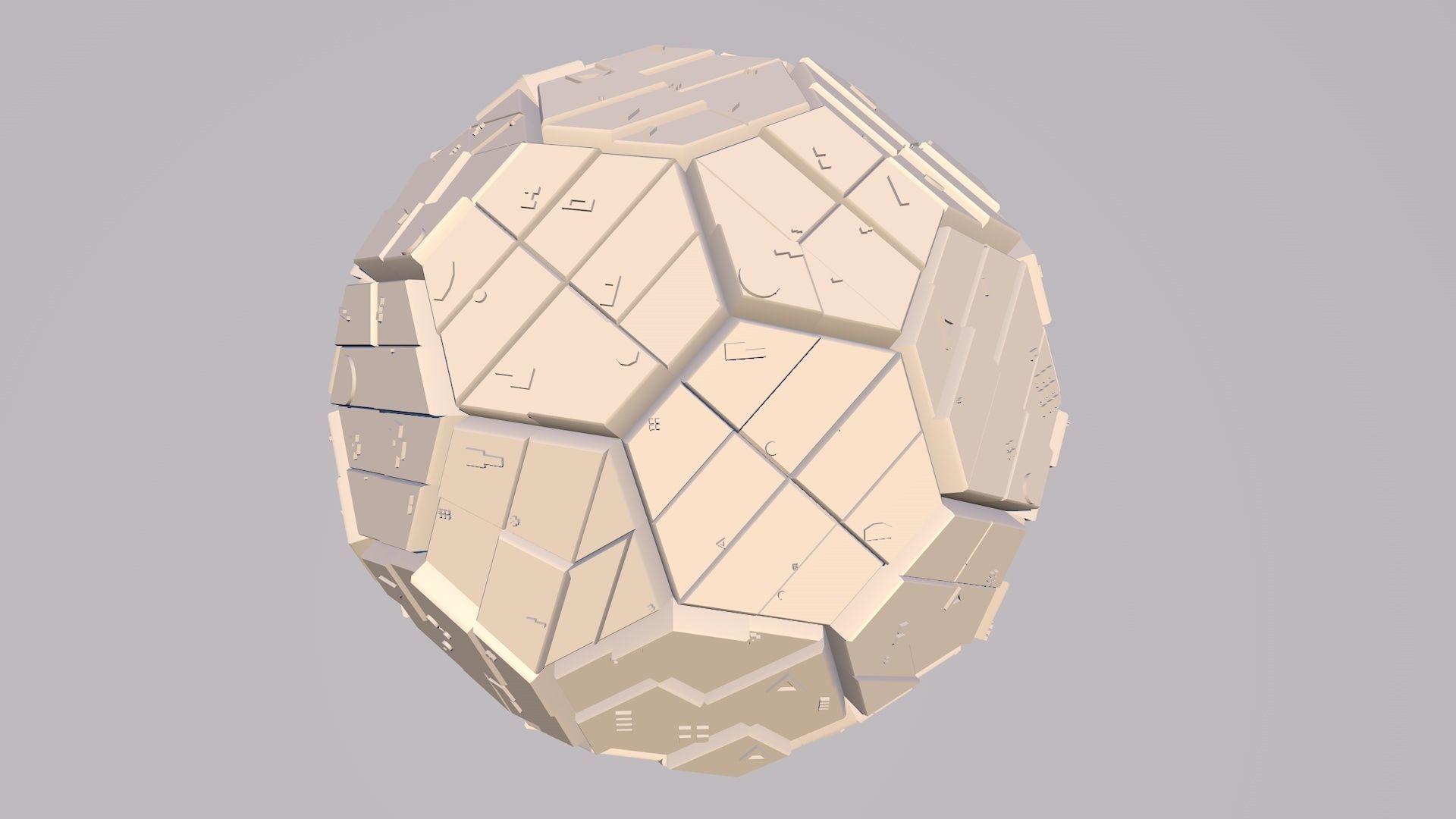 Sphere Scifi Object No 1 Cinema 4D FBX OBJ MTL STL 3DS | 3D model