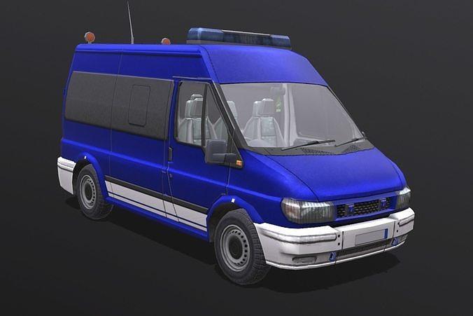 ford transit 3d model obj mtl fbx blend 1