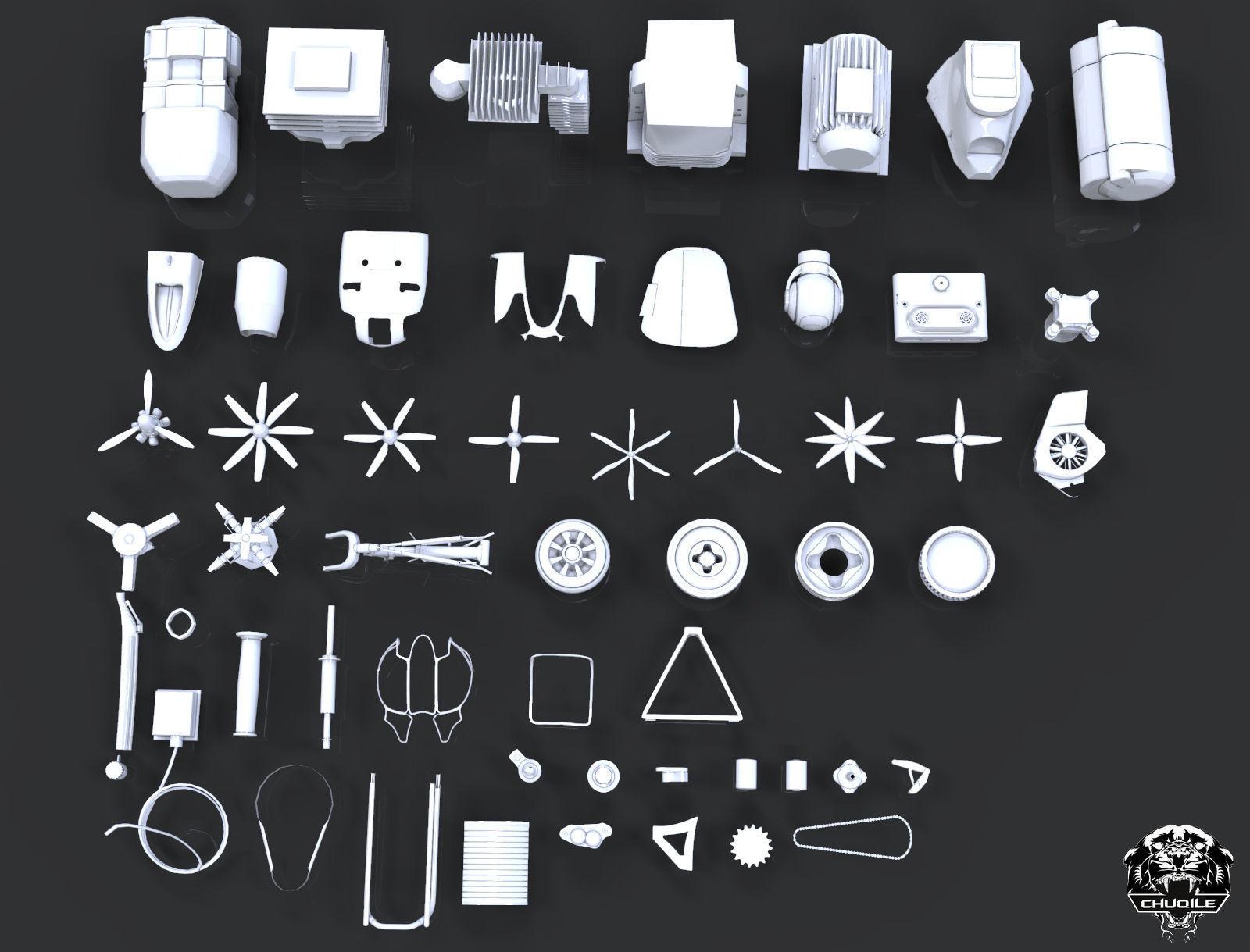 Industrial - Kitbash | 3D model