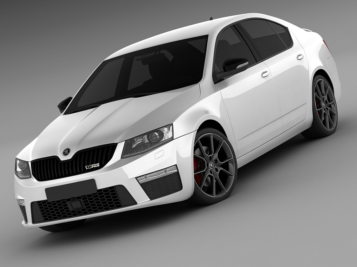 skoda octavia rs sedan 2014 3d model max obj 3ds fbx c4d lwo lw lws. Black Bedroom Furniture Sets. Home Design Ideas