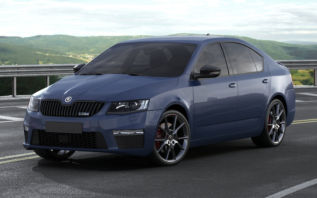 skoda octavia rs sedan 2014 3d model max obj 3ds fbx. Black Bedroom Furniture Sets. Home Design Ideas