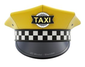 3D Yellow Taxi Cap