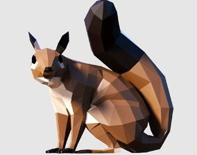 Squirrel 3D asset game-ready