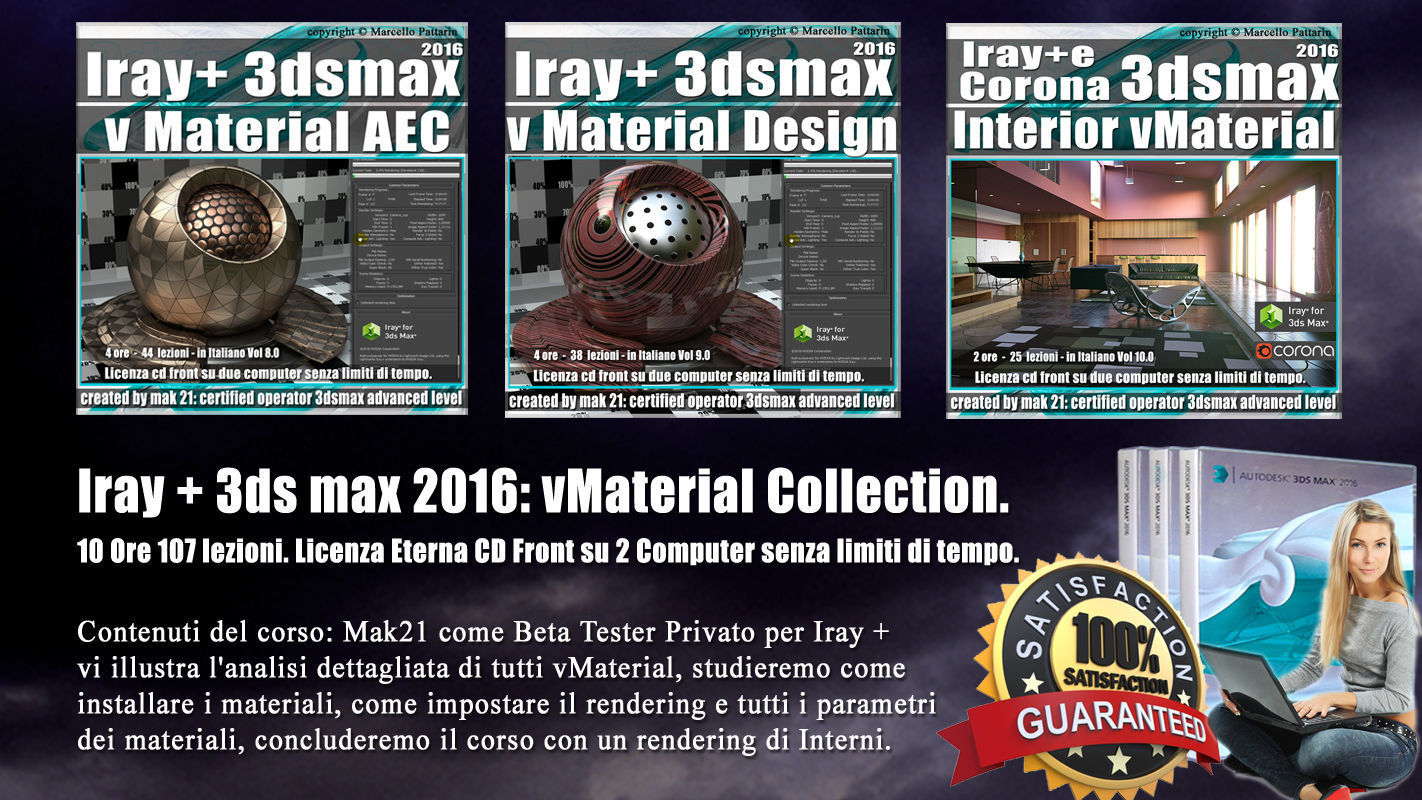 Iray  piu 3dsmax 2016 vMaterial Collection Vol 8   9 10 Cd Front