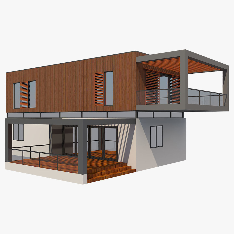 Best Exterior Design App: 3D Model Modern House 9