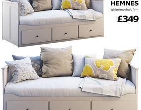Ikea Hemnes bed 3 3D model