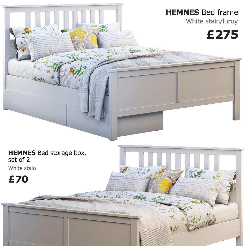 Ikea Hemnes Bedbank.Ikea Hemnes Bed 4 3d Model Cgtrader