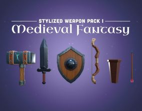Stylized Weapon Pack 1 - Medieval Fantasy 3D model