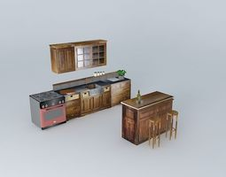 3d model luberon the kitchen and the bar bistro world houses