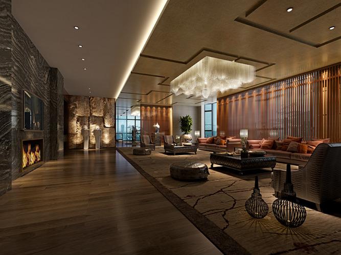 3d Hotel Restaurant Interior Cgtrader