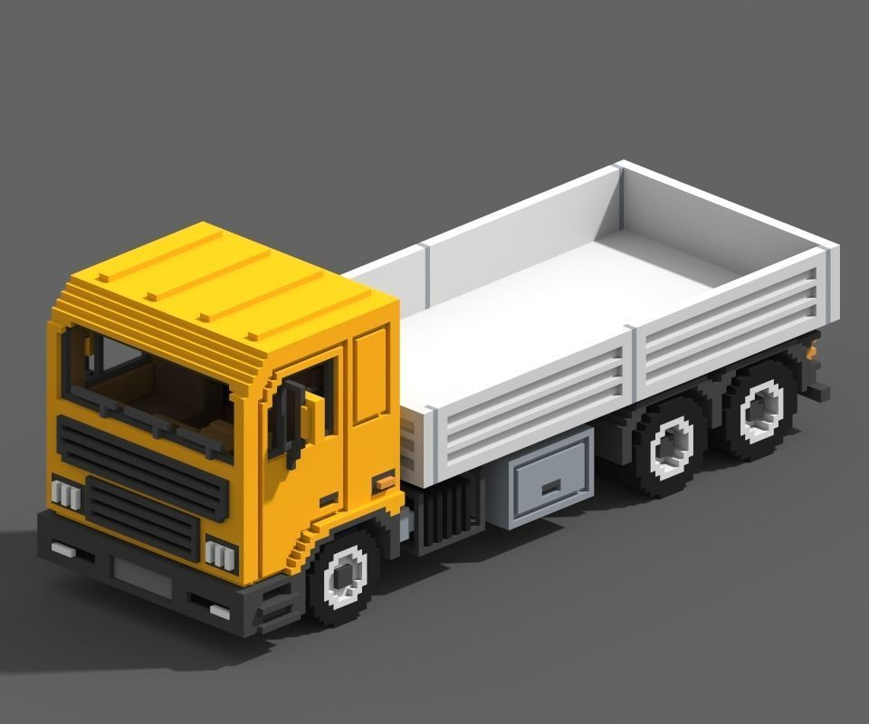 Voxel Flatbed Truck