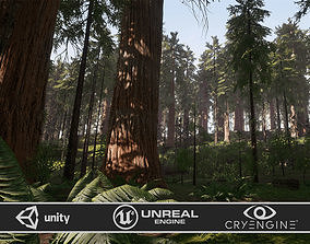 3D asset PBR Redwood Forest for Game Ready