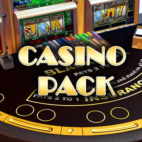 casino pack 3d model low-poly max tga 1