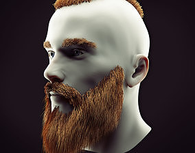 3D model Hairstyle and Beard Low Poly