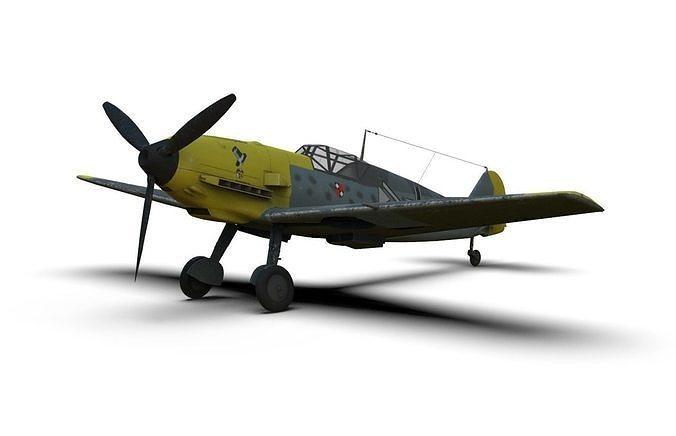 messerschmitt bf 109 german ww2 fighter 3d model max obj mtl 3ds fbx c4d dae 1
