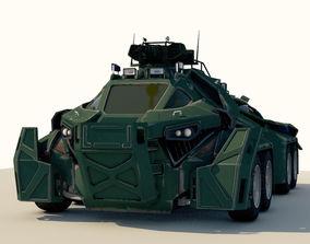 rust 3D model Sci-Fi Military Car
