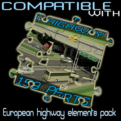 Road Elements Pack 239 parts