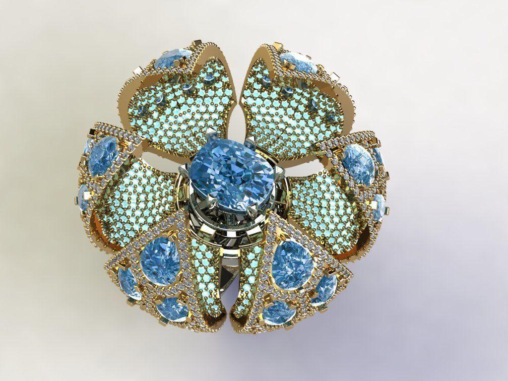 Opening Flower Ring
