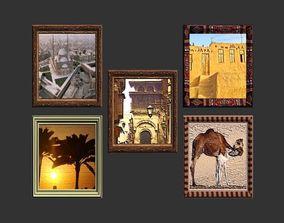 Framed Artworks of Egypt 3D asset