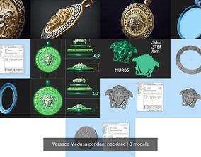 Versace Medusa pendant necklace 3D model