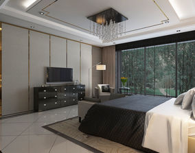 3D Bedroom Interior Scene 04