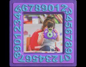 3D model Picture Frame Baby Girl Toy Camera Shooting