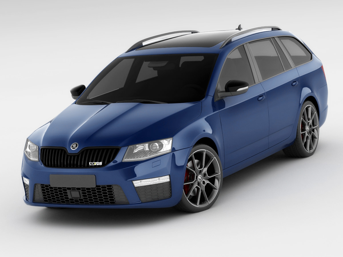 skoda octavia combi rs 3d model max obj 3ds fbx c4d. Black Bedroom Furniture Sets. Home Design Ideas