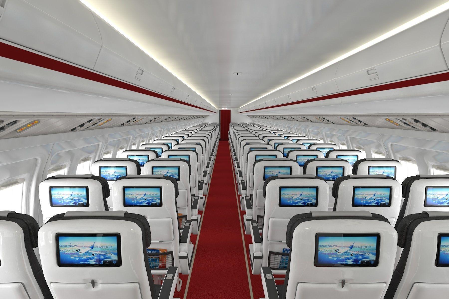 Airplane cabin 109 Seats