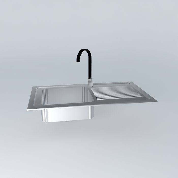 Sink free 3d model max obj 3ds fbx stl dae for Sketchup bathroom sink