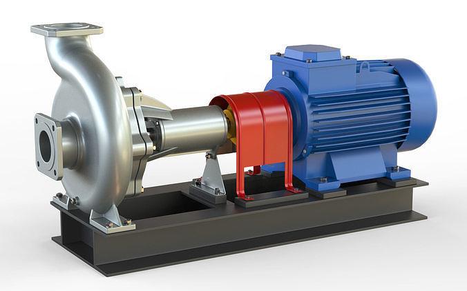 pump centrifugal nk2 3d model max obj mtl fbx c4d 1