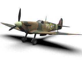 3D asset Supermarine Spitfire WW2 Fighter Plane