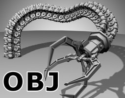 Robot Mechanic Arm (OBJ) - (style one) 3D Model
