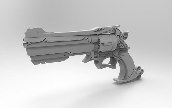 mccree six-shooter overwatch 3d model stl 1
