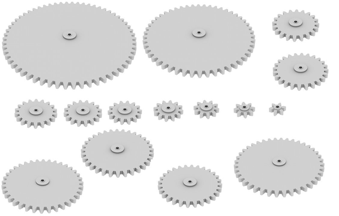 graphic relating to Printable Gears identify Gears - Choice dimension 3D Print Type