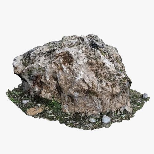 mossy rock 3d model max obj mtl fbx 1