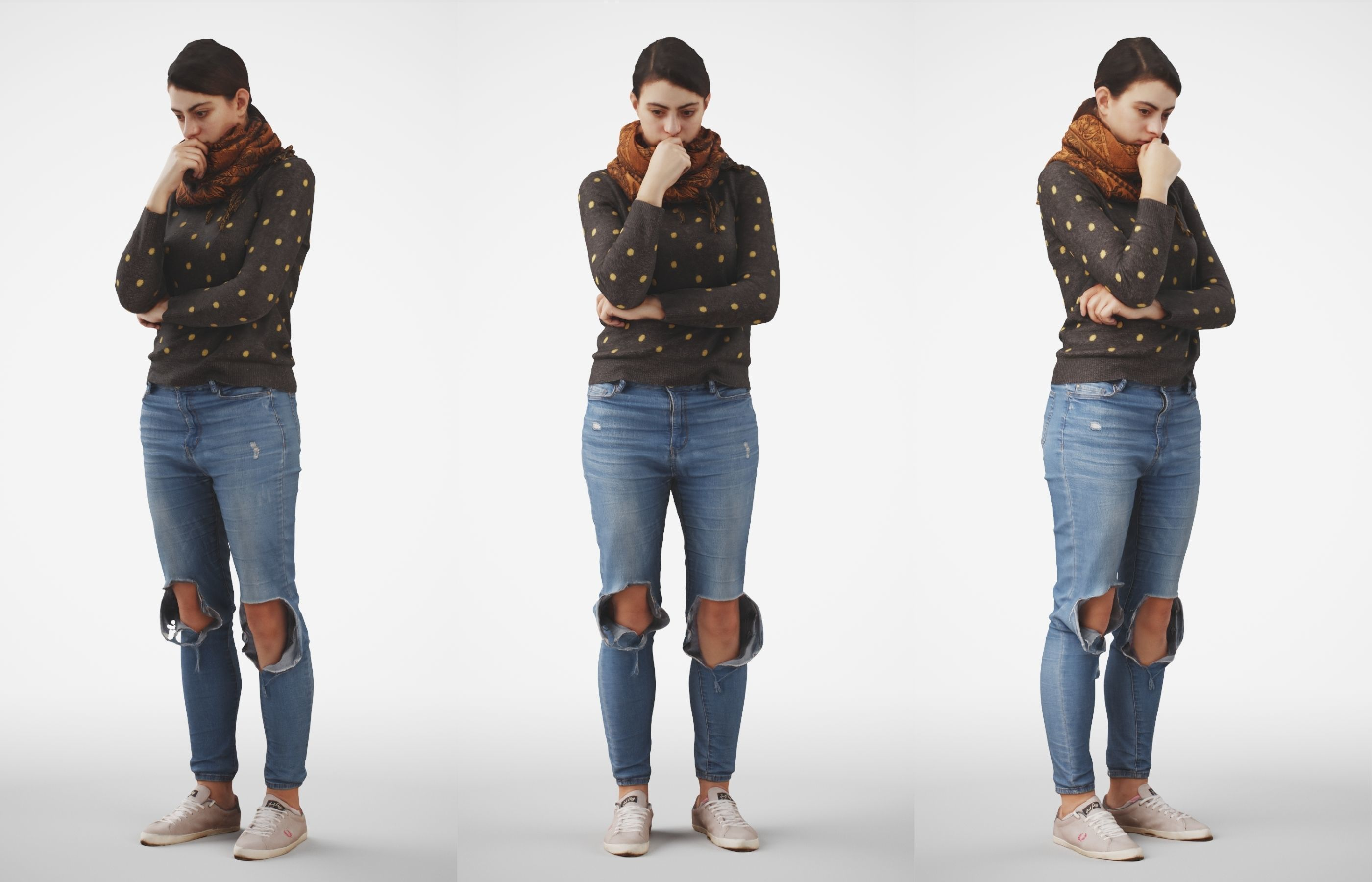 Rosanna 03 Woman posed standing in casual jeans outfit