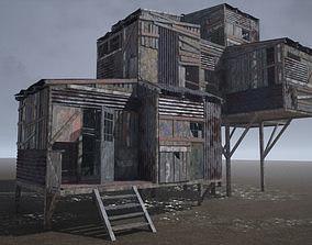 3D asset PBR Modular Post-Apocalyptic Buildings