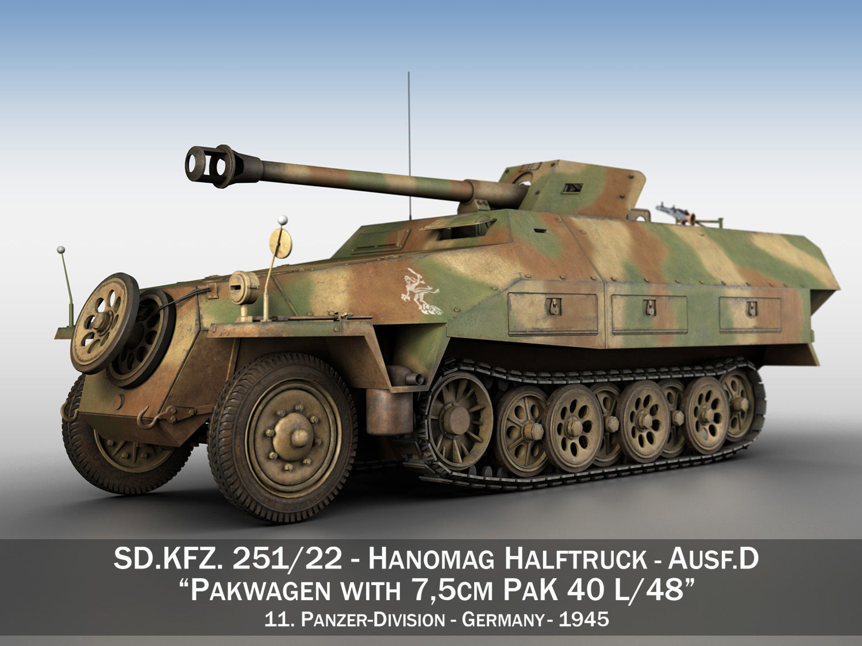 SDKFZ 251 Ausf D - Pakwagen - 11 Pz Div