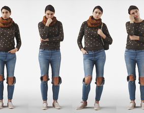 Rosanna Woman posed standing in casual jeans outfit 4 3D