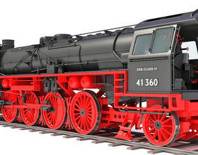 3D Black Steam Locomotive