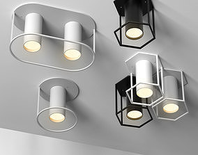 3D model Set of 4 spot lamps by FILD Architonic