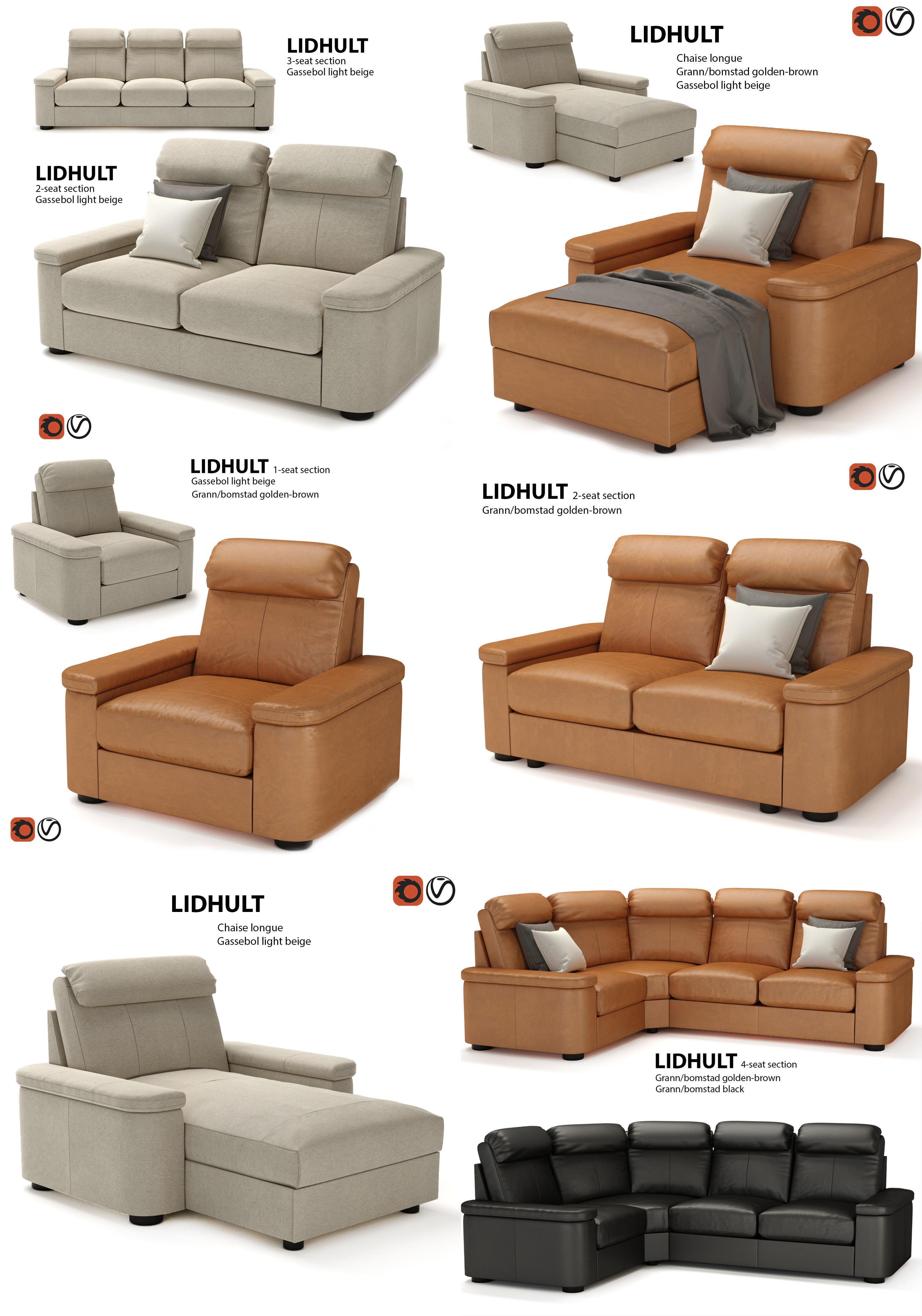 Model Set Of Furniture Ikea Lidhult