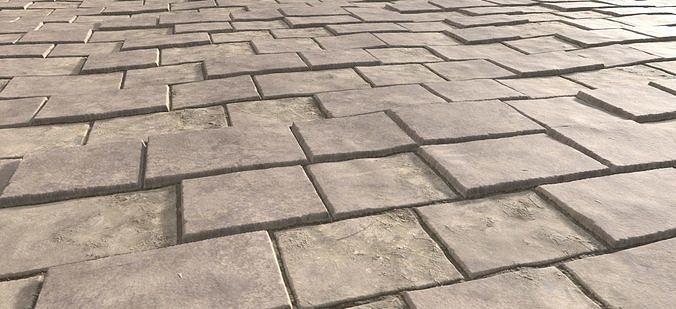stone wall material 4k pbr 3d model  1