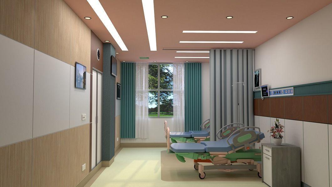Hospital Room Interior 3D model