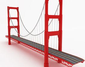 3D model Golden gate bridge francisco
