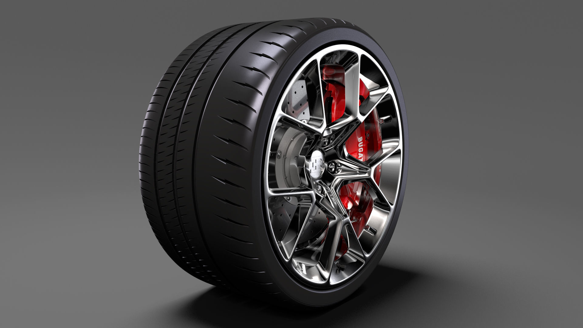 Bugatti Chiron wheel 4