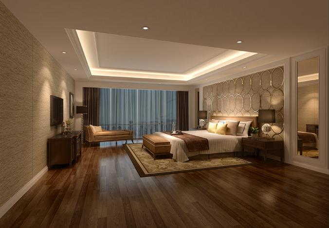 3d Model Hotel Bed Room Interior Cgtrader