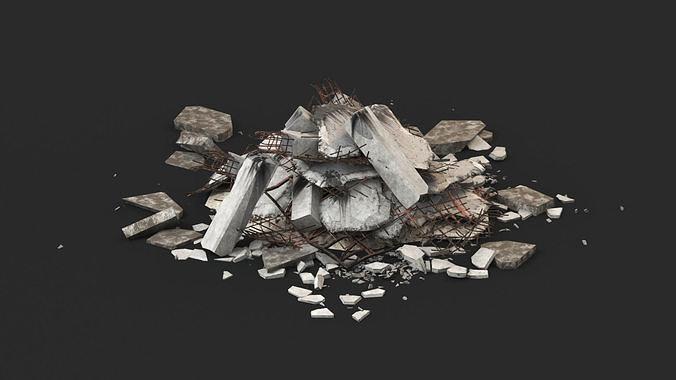 Ruin Debris Rubble 02