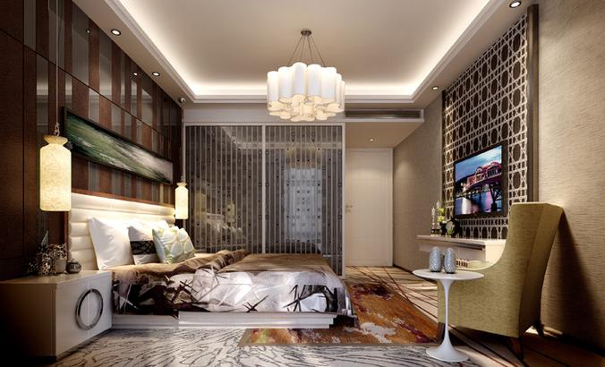 light bed room interior 3d model max 1