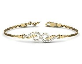 3D print model Diamond Bracelet For Ladies
